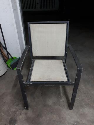 silla de aluminio