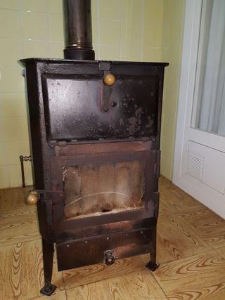 estufa de leña y carbón