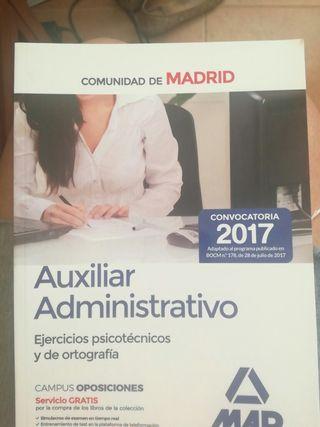 Temario Aux. Adm.Madrid 2017