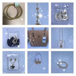 bolso accesorios y perfumes