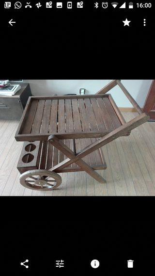 carro de madera restaurado