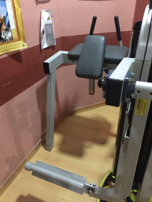 Máquina glúteo gimnasio pierna
