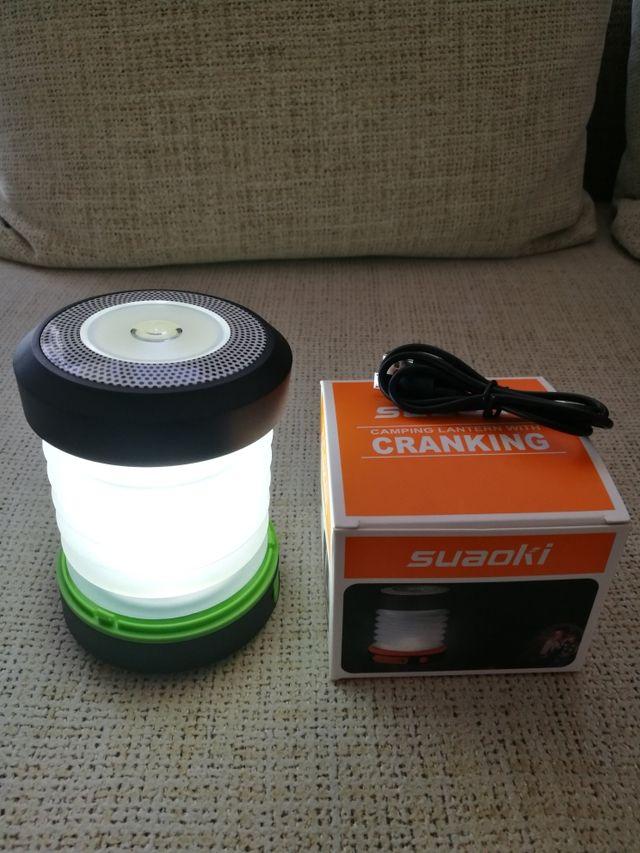 Linterna Lámpara Dínamo, Powerbank Producto nuevo