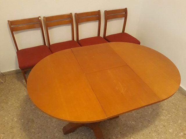 Conjunto mesa y sillas comedor de segunda mano por 35 € en Valencia ...
