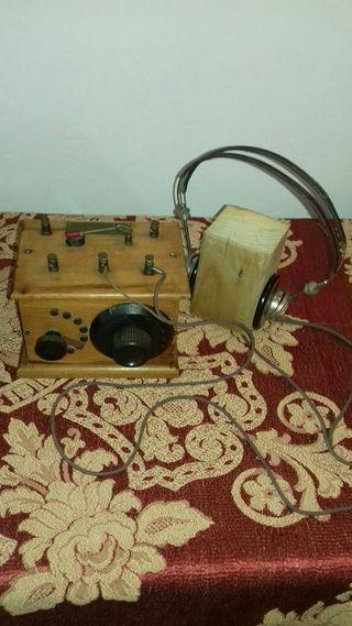 radio antigua de galena.