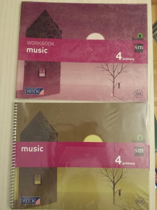 Libros Music Savia y Workbook Music 4 Primaria