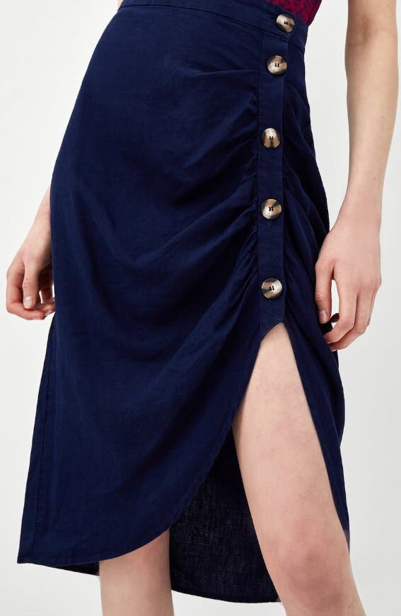 547218036e Falda lino azul marino zara de segunda mano por 15 € en Madrid en ...