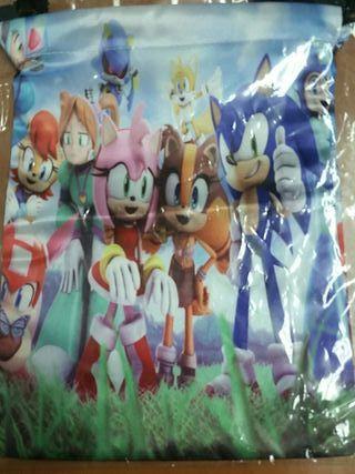 Bolsa de merienda de Sonic 24x18cm