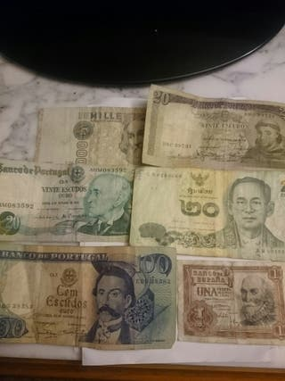lote billetes antiguos
