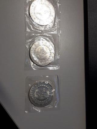 Lote 2 Monedas 5 pesetas Barcelona 1811