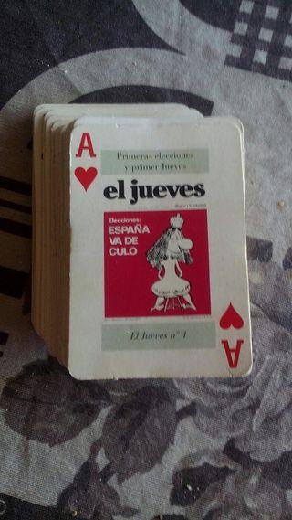"""baraja poker """"el jueves"""" mejores portadas"""