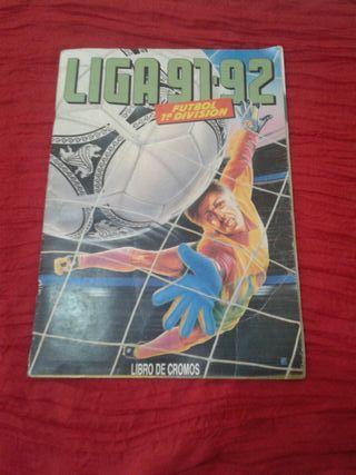 album cromos futbol liga 91-92