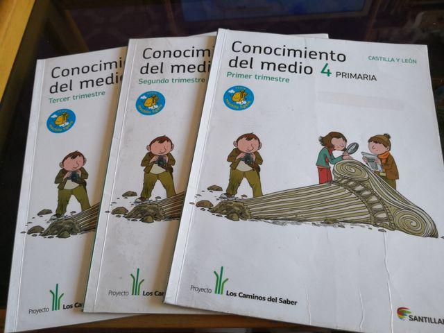 Libro de Conocimiento del medio 4 de primaria de segunda mano por 15 ...