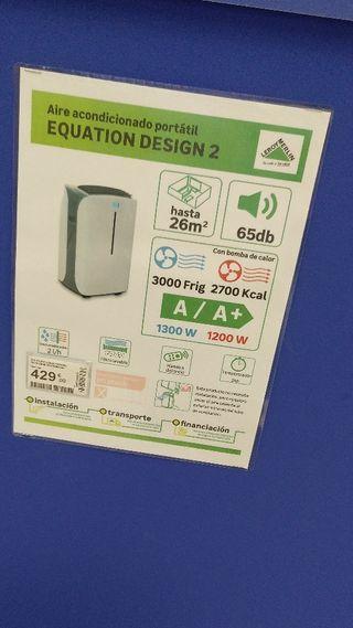 aire portatil calefactor y a/c equation design 2