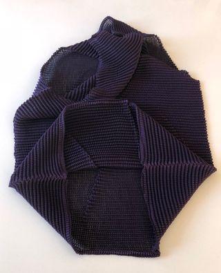 Top débardeur plissé prune violet Biche de Bère