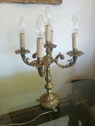 candelabros lamparas bronce antiguedad