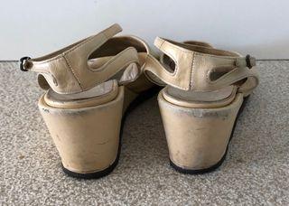 sandales compensées VINTAGE Fausto Santini 37-37,5