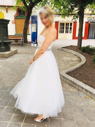 Vestido de novia estilo años 50