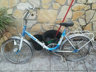 Bicicleta antigua plegable