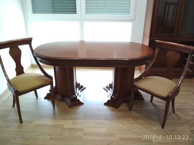 Mesa y sillas comedor de segunda mano por 175 € en Alcoy en WALLAPOP