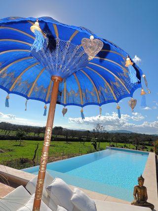 Sombrilla Balinesa 1M Blanca o Azul ¡ENVIO GRATIS!