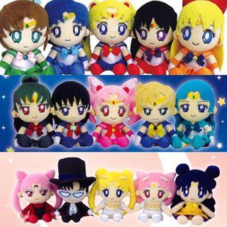 20th Sailor Moon Mini Plush Complete Collection
