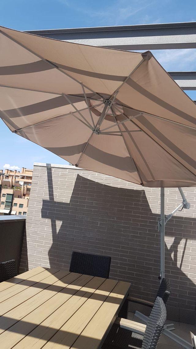 Sombrilla Para Terraza De Segunda Mano Por 60 En Madrid En Wallapop - Sombrillas-para-terrazas