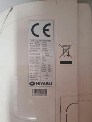 equipos de aire acondicionado hiyasu