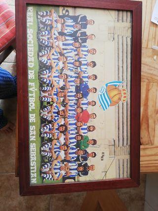 Póster Real Sociedad 1975-1976