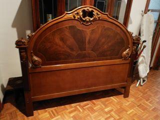 Cabezal de cama de madera maciza