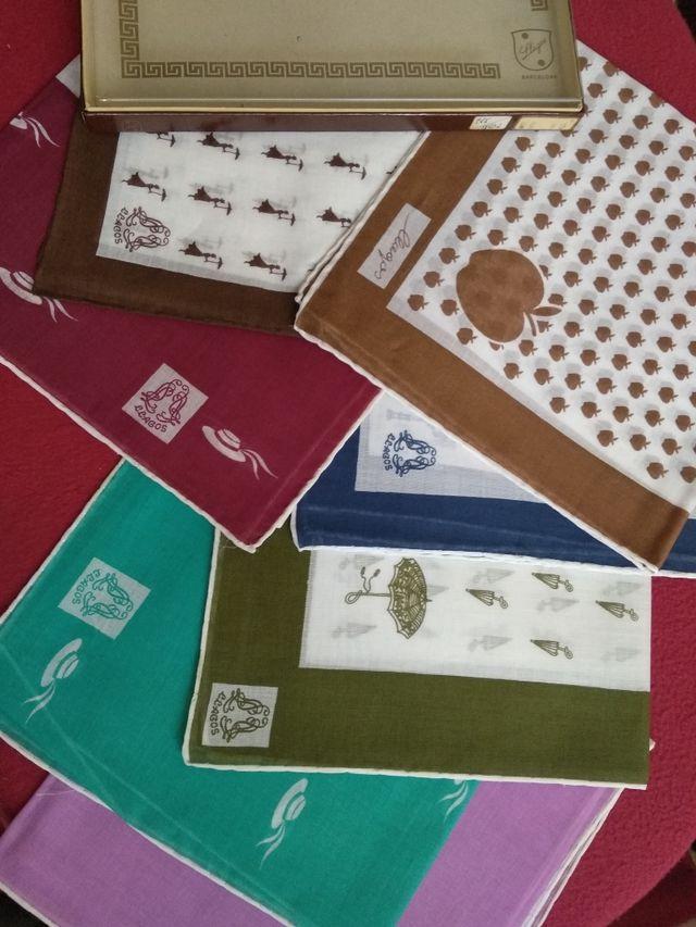 7 pañuelos algodon marca llagos