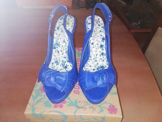 número ESTRENAR tacón lazo de azules mano 35 a segunda por Zapatos qTYtwn