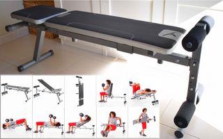 Banco y pesas Kit musculación