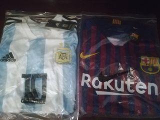 camisetas de Argentina y FC Barcelona
