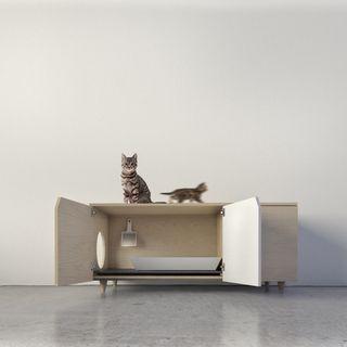 Mueble vintage para gatos