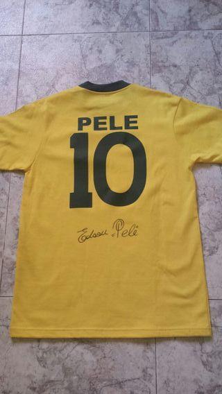Camiseta firmada por Pelé Brasil 1970