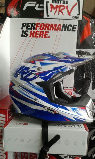 casco cross fibra shiro