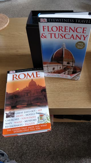 travel guides: Roma and Florence & Ruscany