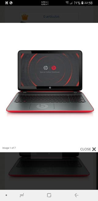 Portatil hp beats 15 p000ns