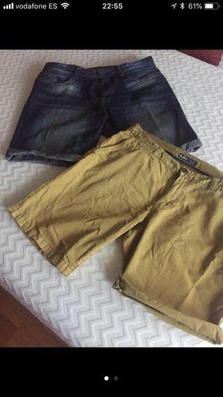 2 pantalones cortos Pull & Bear talla 44