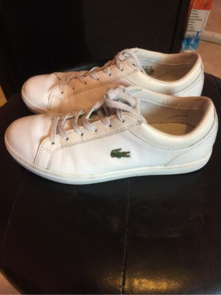 Basket lacoste blanche