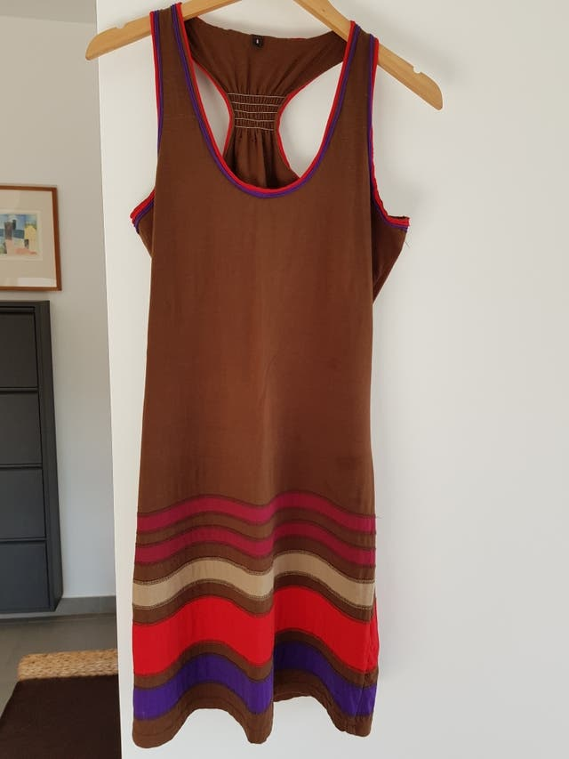 Vestido tirantes rayas colores