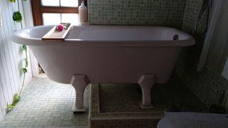 Bañera antigua acero y porcelana principios siglo