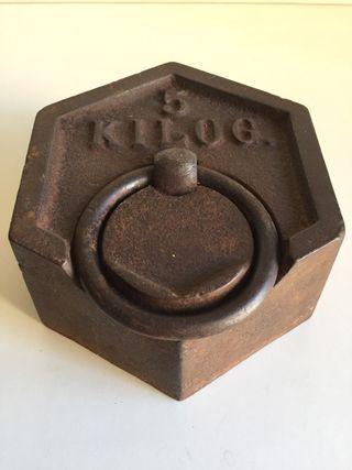 Lote pesas hierro hexagonales