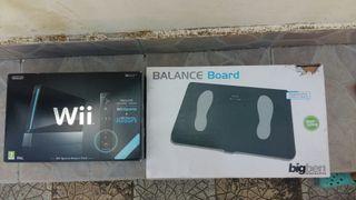 Wii + Wii balence board + accesorios