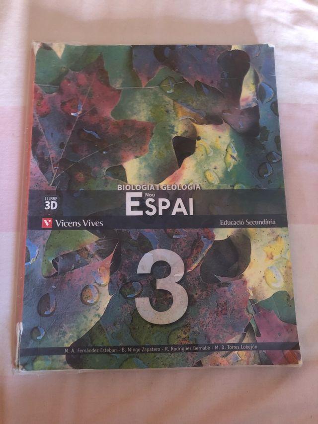 Llibre biologia i geologia Nou Espai 3r ESO