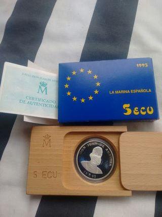 moneda 5 ecu 1995 plata(Juan de Austria)