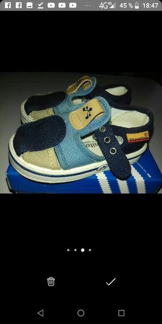 zapatillas bebe talla 20