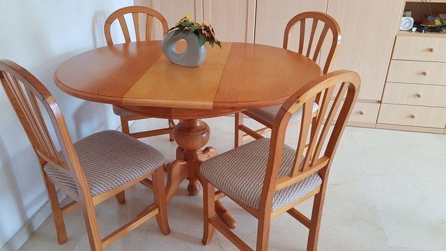 Mesa comedor madera y 4 sillas en benidorm de segunda mano por 295 en oviedo en wallapop - Wallapop asturias muebles ...