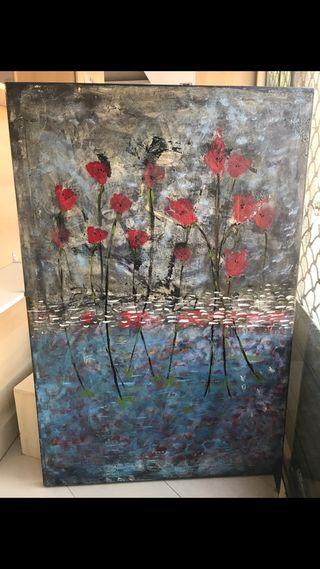 Cuadro pintado a mano 120x 70